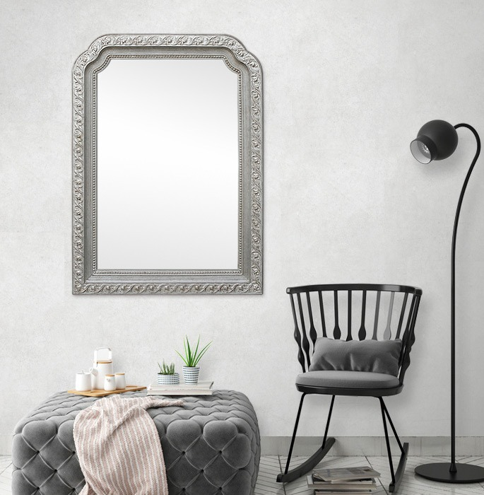 1900s-silver-wood-wall-mirror