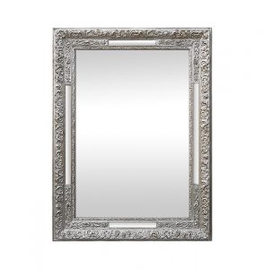 1900's Style, Antique Silver Wood Mirror