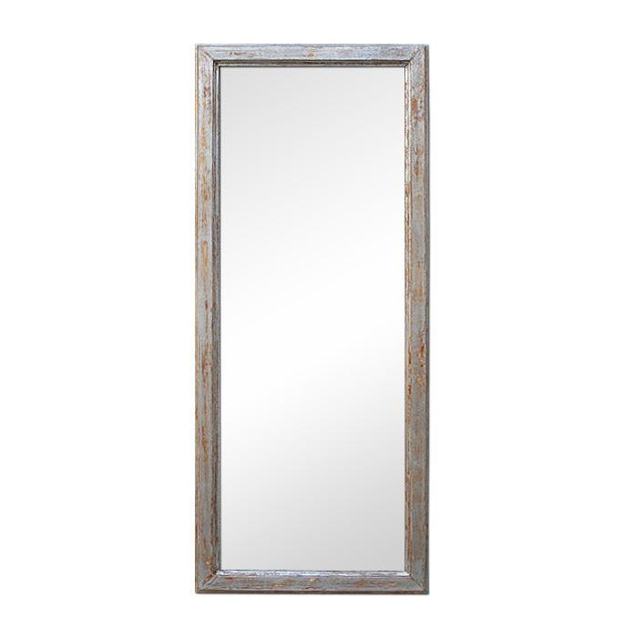 1960s-aged-silver-wood-rectangular-mirror