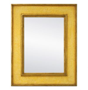 Contemporary Wall Mirror, Yellow Colors and Gilding by Atelier RTCD – Paris