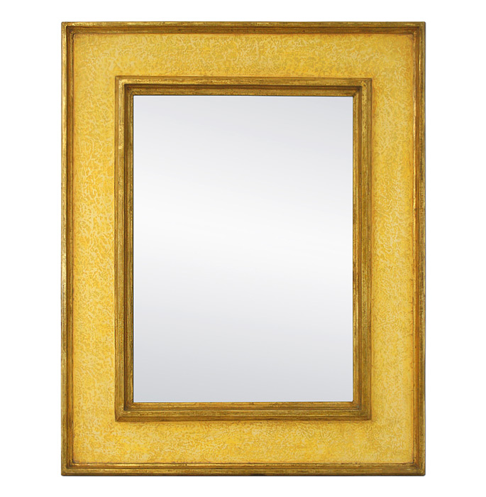 Contemporary-Mirror-by-Pascal-and-Annie-Braque-Inspiration-Frame-yellow-colors-and-gilding