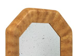 Detail-contemporary-octogonal-mirror-chamois-by-Pascal-Annie