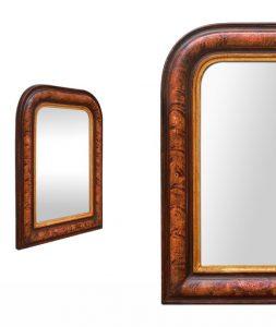 Louis-Philippe-mirror-original-decor-marbled-paint