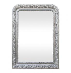 Louis-Philippe Style Silvered Mirror, circa 1900