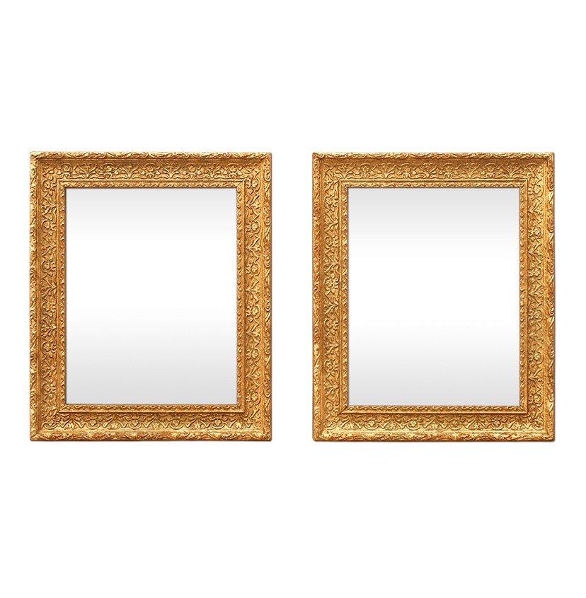 Pair-of-french-antique-giltwood-mirrors