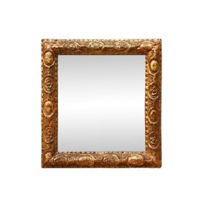 Small Antique Carved Giltwood Mirror, Late 18th Century