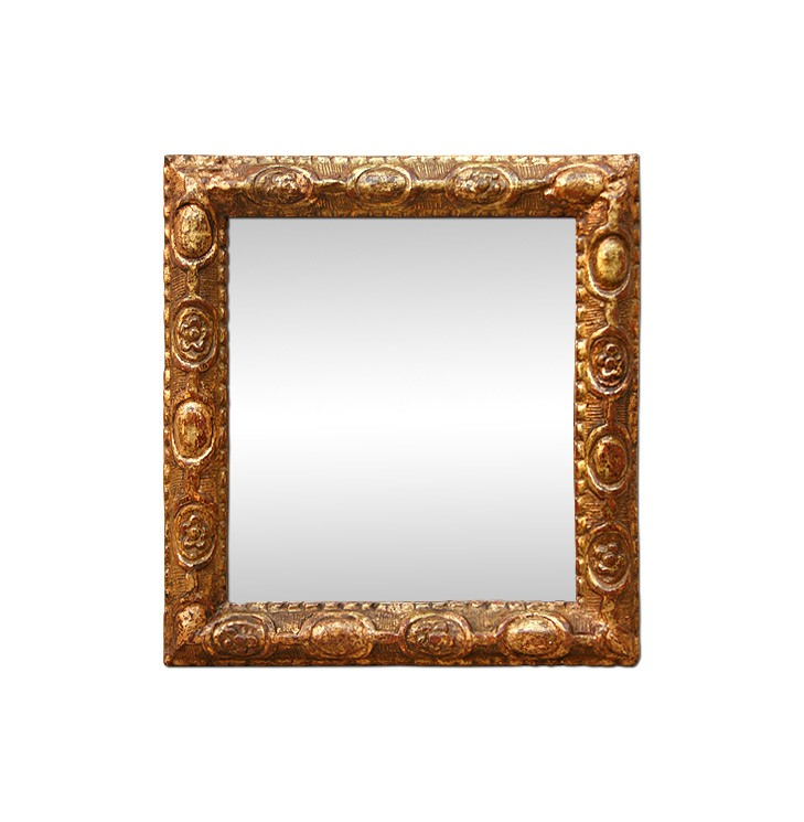 Small-antique-carved-wood-mirror-giltwood-late-18th-century