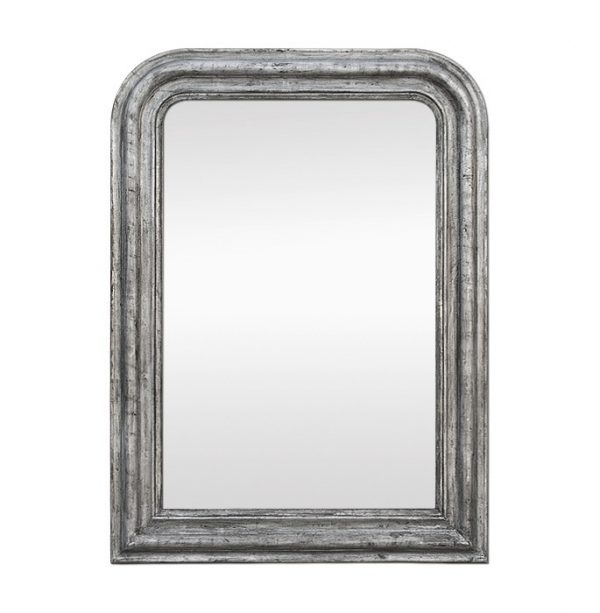 Antique Louis-Philippe Style Silverwood Mirror, circa 1885