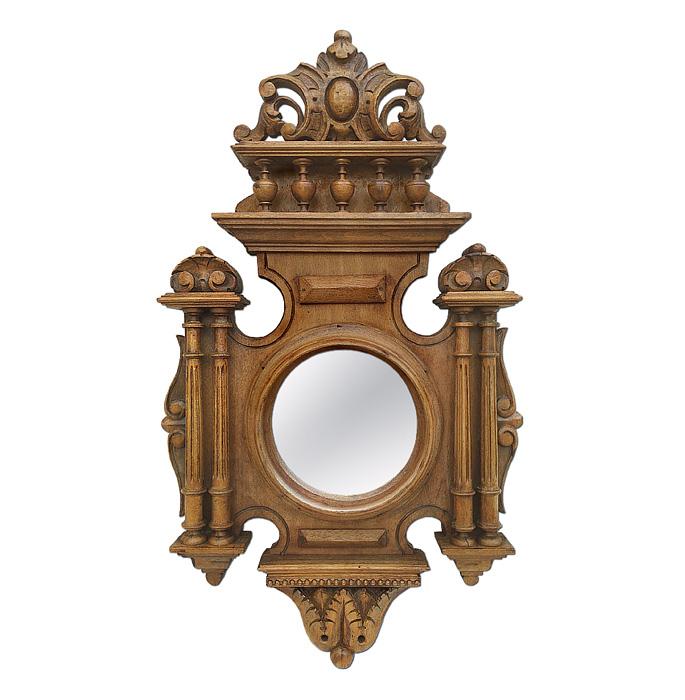 antique-carved-wood-round-mirror-renaissance-style-circa-1930
