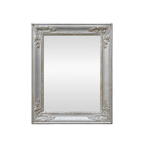 Silvered Wood Restoration Style Mirror, Late 19th Century