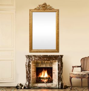 antique-french-fireplace-mirror-with-pediment