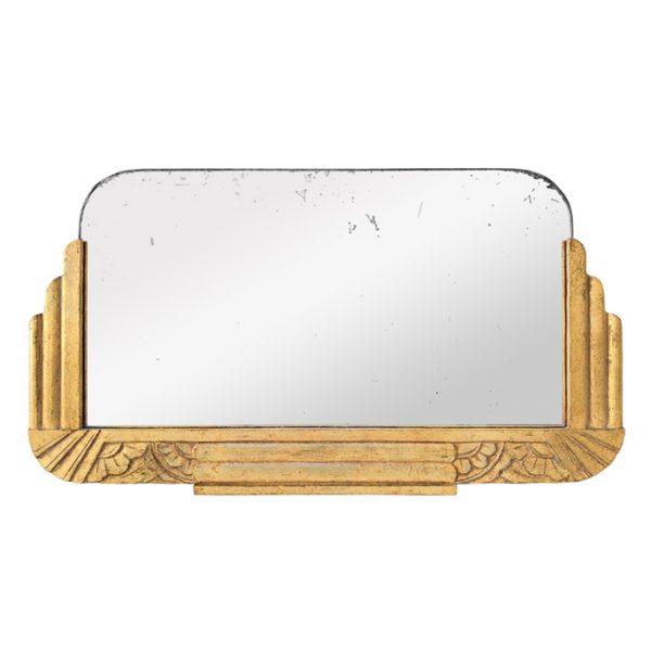 Antique French Giltwood Mirror, Art Deco Style, circa 1940