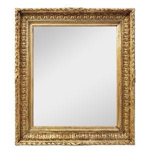 Antique French Giltwood Mirror, Barbizon Style, circa 1850
