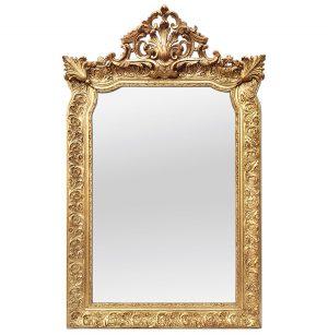 Antique French Giltwood Mirror, Napoleon III Style, circa 1880