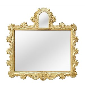 Antique French Giltwood Mirror, Rococo Style, circa 1930
