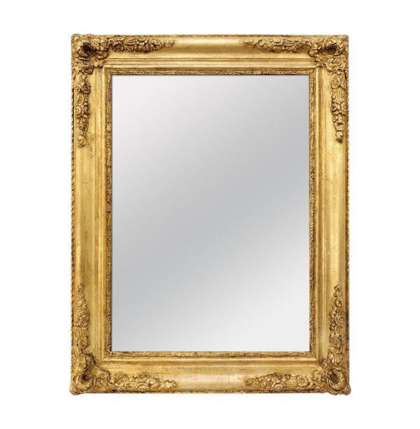 Antique French Giltwood Mirror, Romantic Style, circa 1840