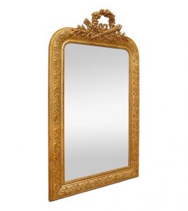 antique-french-giltwood-mirror-with-pediment-louis-XVI-style-inspiration