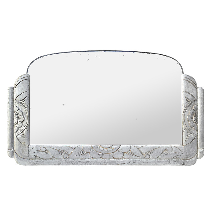 antique-french-mirror-silver-wood-Art-Deco-style-circa-1940