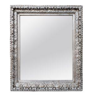 Antique French Mirror Silver Wood, circa 1930