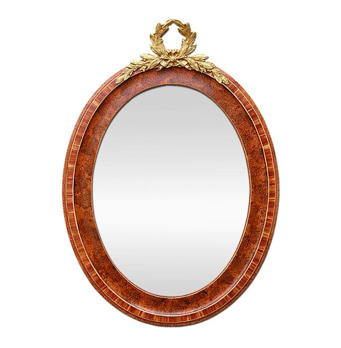 antique-french-oval-mirror-gilded-bronze-pediment-circa-1900