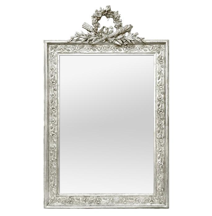 antique-french-silverwood-wall-mirror-pediment-circa-1900