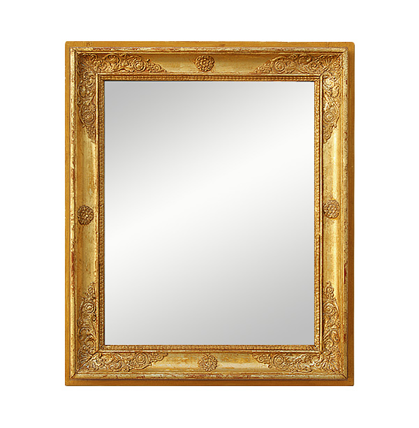 Antique Giltwood Mirror Restoration French Style, 19th Century