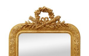 antique-giltwood-mirror-with-pediment-bow-arrows-torche