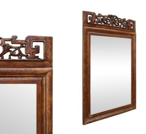 antique-mirror-with-a-Asian-style-pediment-carved-wood