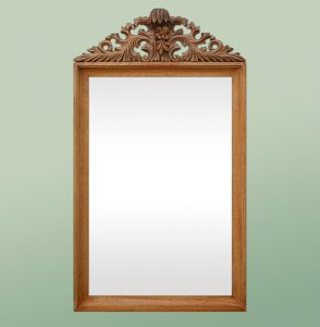 antique-mirror-with-carved-oak-wood-pediment