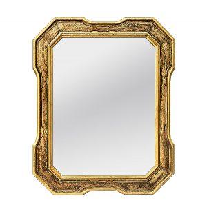 Antique Octogonal Giltwood Mirror, circa 1960