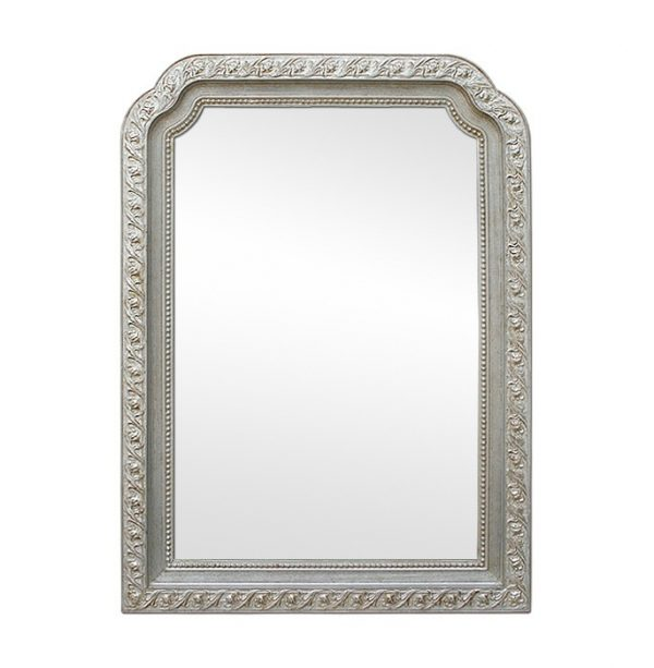 Antique Silver Wood Modern'Style Mirror, circa 1900