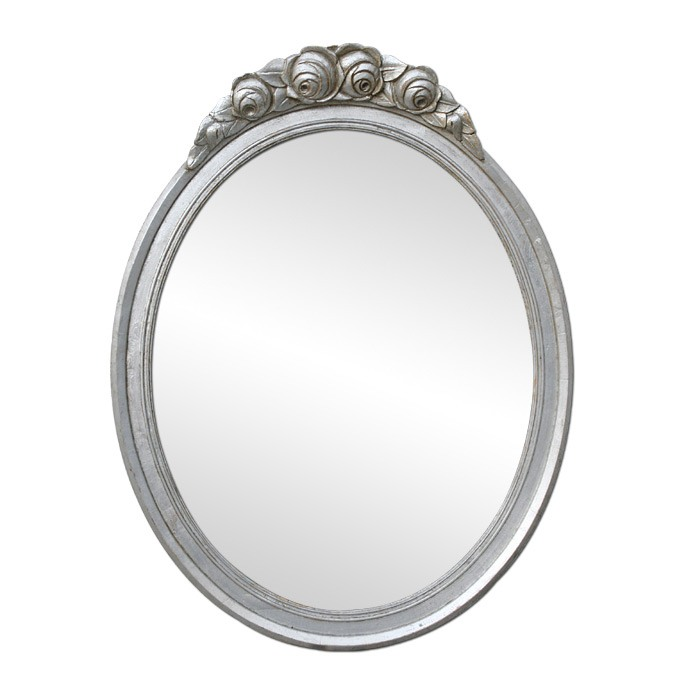 antique-silver-wood-oval-mirror-Art-Deco-style