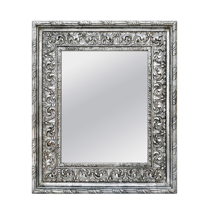 antique-silver-wood-wall-mirror-Baroque-style-circa-1930