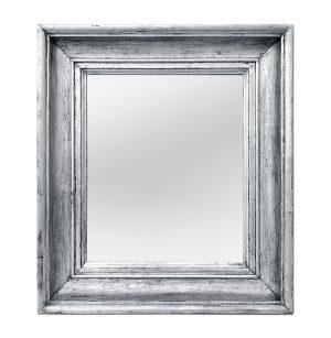 Antique Silverwood French Mirror, circa 1890