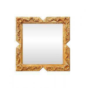 Antique Small Giltwood Square Mirror, Napoleon III Style