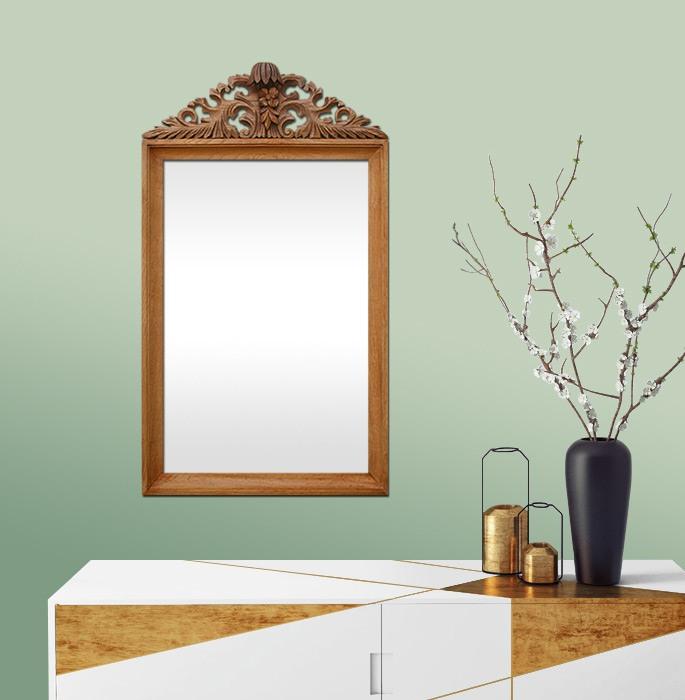 antique-wood-wall-mirror-carved-oak-wood-pediment
