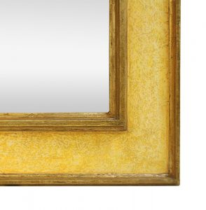 detail-contemporary-art-mirror-by-Pascal-and-Annie-yellow-colors-and-gilding