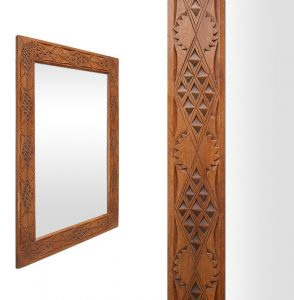 exotic-antique-wood-mirror-with-oriental-style-decor