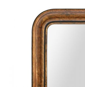 french-Louis-Philippe-mirror-with-imitation-walnut-wood-decor