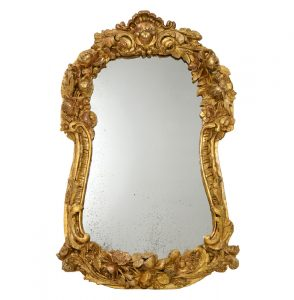 French Antique Giltwood Mirror, 19th Century