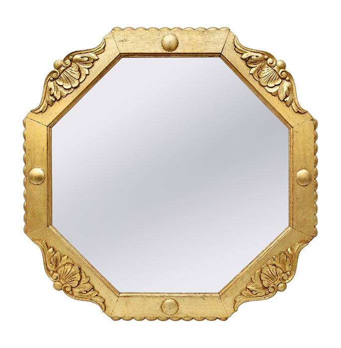 french-antique-octagonal-giltwood-mirror-circa-1940