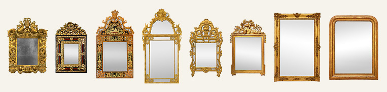 French antique wall mirrors - History