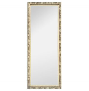 Full-Length Antique French Mirror, Stylized Ornaments, circa 1950