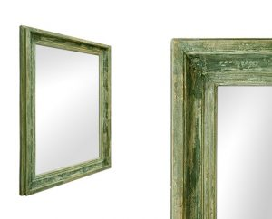 green-patinated-antique-french-mirror