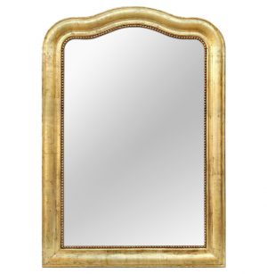 Large Antique French Giltwood Mirror Louis-Philippe Style, circa 1880