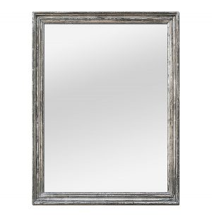 Large Antique French Silverwood Mirror, 19th Century
