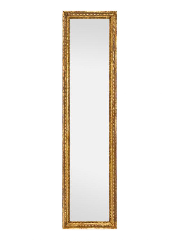 Large Antique Giltwood Wall Mirror, Louis XVI Style, circa 1900