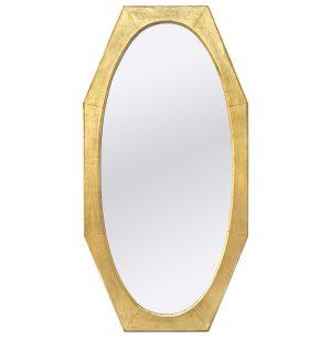 Large Antique Octagonal Giltwood Mirror, circa 1950