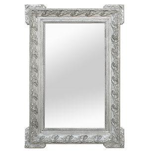 Large Antique Silverwood Mirror Modern'style Decor, circa 1900