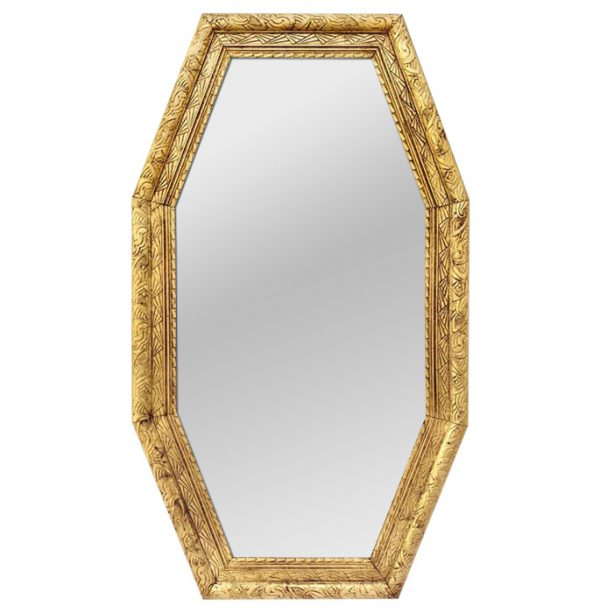 Large French Antique Octagonal Mirror, Art Deco style, circa 1930